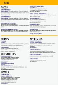 Menu - Wicked Fish Tacos