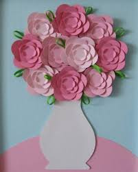 Creative Child Flowers From Paper Pictures