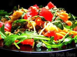 recette salade de pâtes thon roquette tomate feta 750g