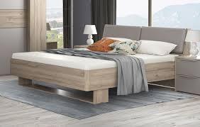 bett doppelbett futonbett schlafzimmer bianco eiche basalt grau 160x200cm