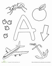Preschool Reading Writing Worksheets A Is For