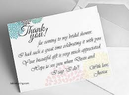 Wedding Thank You Card Message Ideas Elegant Bridal Shower Wording Etiquette Sayings