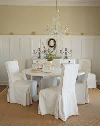 No Sew Minimalist Slip Covered Dining Chairs At Dinning Room Furniture Covers Chair