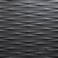 Modern Design Natural Stone China Black Marble 3d Wall Panels