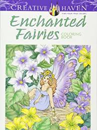 Creative Haven Enchanted Fairies Coloring Book Adult