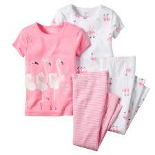 carter u0027s infant u0026 toddler u0027s 2 pairs pajamas ballerina flamingos