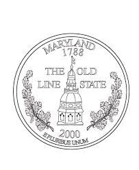 Wyoming State Quarter Coloring Page