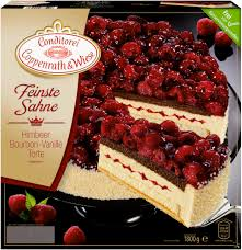 feinste sahne himbeer bourbon vanille torte 1800 grams