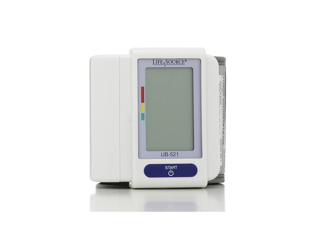 LifeSource Digital Wrist Blood Pressure Monitor - 9/7mm