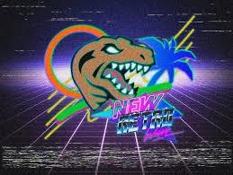 New Retro Wave Miami Raptor By Marceloryuuku