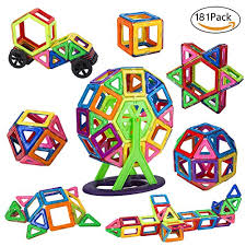 amazon com magnetic blocks building set for kids magnetic tiles