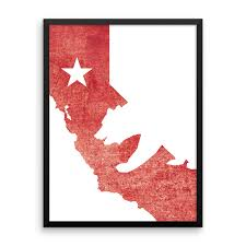 Wall Art California State Flag Bear