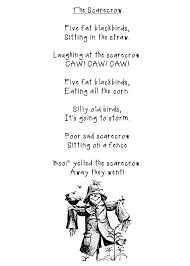 Poems About Halloween For Kindergarten by 128 Best Scarecrows Worksheets Stories Poems And Crafts For