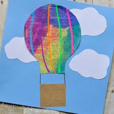 Newspaper Hot Air Balloon Craft For Kids