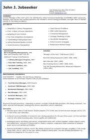 Restaurant Manager Resume Examples Awesome Sample Free