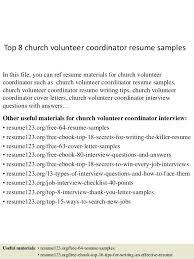Volunteer Resume Template Sample Showing Work Community