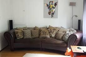 big sofa kolonial stil braun groß kissen sessel