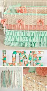 Teal And Coral Baby Bedding by Best 25 Baby Crib Bedding Ideas On Pinterest Bedding