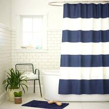 Blue Vertical Striped Curtains by Navy Blue And White Vertical Striped Shower Curtain Integralbook Com