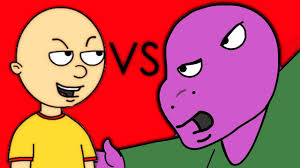 Caillou In The Bathtub Goanimate by Caillou Vs Barney Youtube
