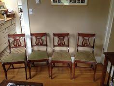 Lyre Back Chairs History by Two 1940 U0027s Mahogany Lyre Back Dining Chairs Saber Leg Duncan Phyfe