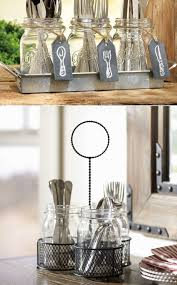 Repurpose Mason Jars Flatware Storage Kitchen Dollar Store Baskets Instead Cutlery Tray