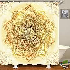 70x70 1 polyester qcwn mandala ethnic decor duschvorhang