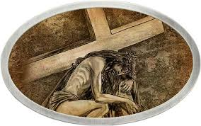 Tattoo Johnny Jesus Carrying Cross Belt Buckle