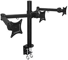 mount it mi 753 triple screen lcd computer monitor desk mount