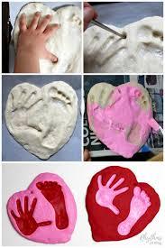 A Salt Dough Handprint And Footprint Heart Keepsake Kids Can Make For Parents Grandparents