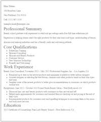 No Experience Esthetician Resume Sample
