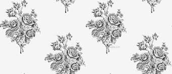 Bunch Of Black And White Roses MySpace Layout