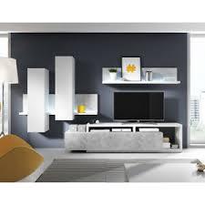 wohnwand anbauwand weiß grau wohnkombination bota wohnzimmer