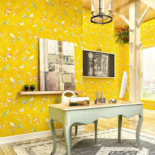 helle gelb amerikanischen tapete garten blumen gemalt tapete einfache moderne wohnzimmer wand schlafzimmer hintergrund decor