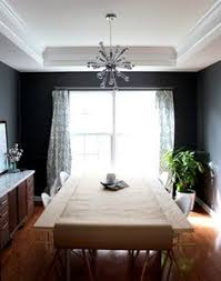 Modern Dark Grey Dining Room Makeover