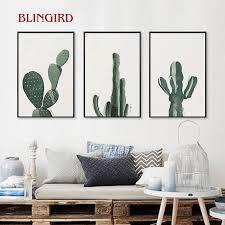 einfache innen stilleben dekorative malerei kunstdruck poster wand wandbild flur kunst gemalt durch kakteen im wohnzimmer ro