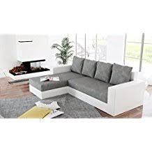 canapé gris et blanc pas cher amazon fr canape angle convertible avec coffre rangement