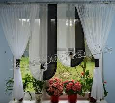 fenster 140 cm gardine komplett dekoration wohnzimmer weiß