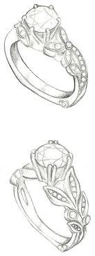 Mark Schneider Design Customized floral engagement ring sketches