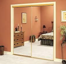 Gold mirrored closet doors