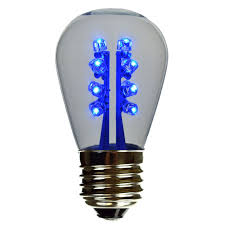 led s14 light bulb medium base blue led clearglass