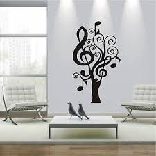 wandtattoo wandaufkleber noten baum deko musik wohnzimmer