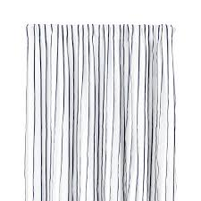 kendal 50 x84 grey striped curtain panel crate and barrel