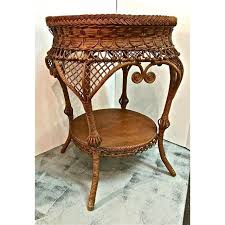 Heywood Wakefield Chairs Antique by Antique Heywood Wakefield Wicker Side Table Chairish