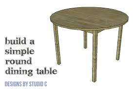DIY Furniture Plans To Build A Simple Round Dining Table