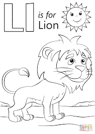 Click The L Is For Lion Coloring Pages To View Printable