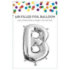 AirFilled Letter B Foil Balloon Kmart