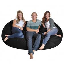Shop Black Microfiber And Memory Foam Bean Bag Chair (8' Oval ... Durable Bean Bags Foam Sack Chair Nice Bag Chairs Comfy Kids Cover Only Electric Blue Stain 6 Foot Top 10 Best Of 2018 Review Fniture Reviews Jordan Manufacturing Company Classic Jumbo Navy Patio Majestic Home Goods Sofa Soft Comfortable Lounge Memory Round Loft Concepts Jack And Jil Wayfair Childrens Factory The 7 2019