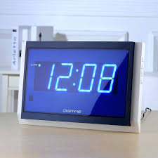 Modern Bedroom Clocks New Big Watch Remote Control Large Led Digital Wall Clock Design Home