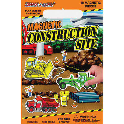 Smethport Specialty Create a Scene Magnetic Playset - Construction Site